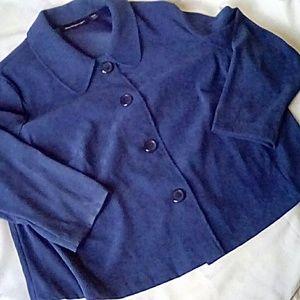 Briggs New York blue coat velvet like